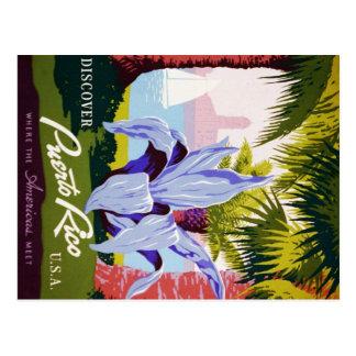 Puerto Rico USA, WPA-Tourismus und Parkplakat Postkarte