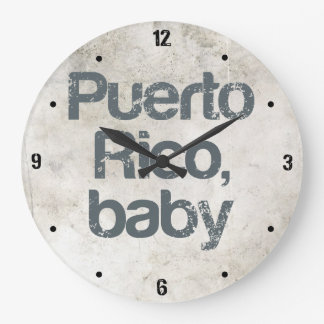 Puerto- Ricobaby Große Wanduhr