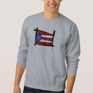 Puerto- Ricobürsten-Flagge Sweatshirt