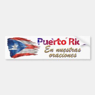 Puerto- Ricoentlastung - in unseren Gebeten Autoaufkleber