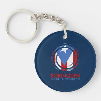 Puerto- Ricoflagge Borinquen Schlüsselanhänger