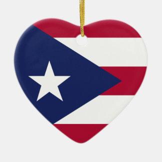 Puerto- Ricoflagge Keramik Ornament