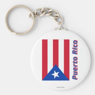 Puerto- Ricoflagge mit Namen Schlüsselanhänger