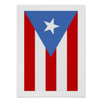 Puerto- Ricoflagge Poster