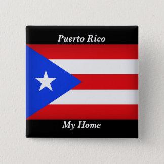 Puerto- Ricoflagge Quadratischer Button 5,1 Cm