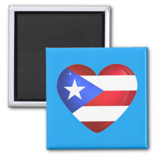 Puerto- Ricoflagge Quadratischer Magnet