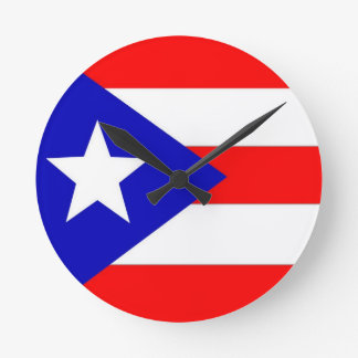 Puerto- Ricoflagge Runde Wanduhr