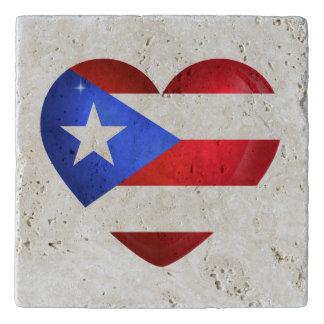 Puerto- Ricoflagge Töpfeuntersetzer