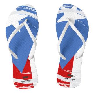 Puerto- Ricoflaggen-Entwurf Flip Flops