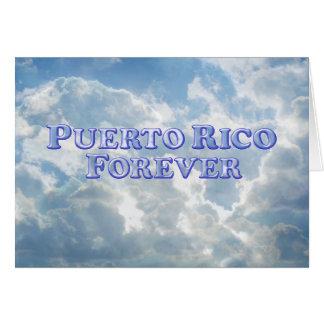 Puerto- Ricofür immer - abgeschrägtes Karte
