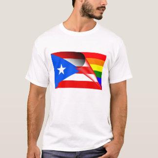 Puerto- RicoGay Pride-Regenbogen-Flagge T-Shirt