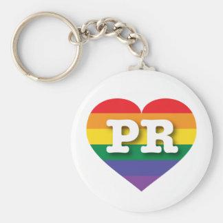 Puerto- RicoGay Pride-Regenbogen-Herz - große Schlüsselanhänger
