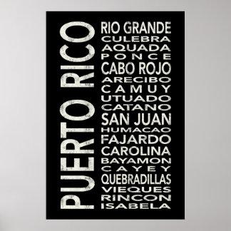 Puerto- Ricountergrundbahn-Kunst-Bus-Rolle Poster