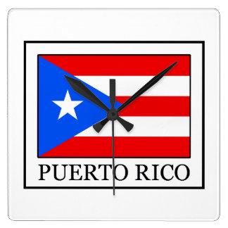 Puerto- RicoWanduhr Quadratische Wanduhr