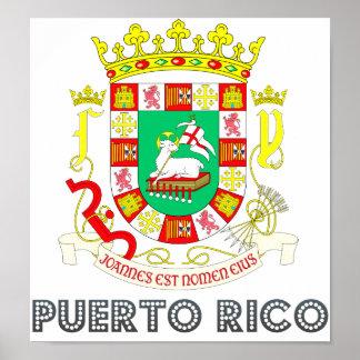 Puerto- Ricowappen Poster