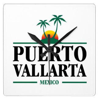 Puerto Vallarta Mexiko Quadratische Wanduhr