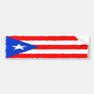 Puertorikanische Flagge Autoaufkleber