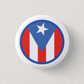 Puertorikanische Flagge Runder Button 3,2 Cm