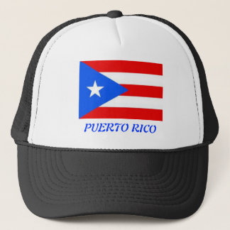 Puertorikanische Flagge Truckerkappe