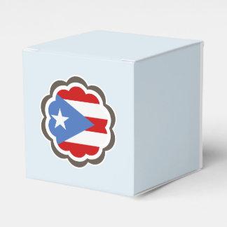 Puertorikanische Flaggen-Blume Geschenkschachtel