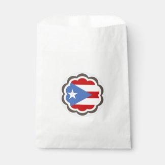 Puertorikanische Flaggen-Blume Geschenktütchen