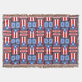 Puertorikanische Flaggen-geometrische Decke