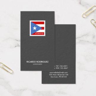 Puertorikanische Flaggen-modernes elegantes Visitenkarte
