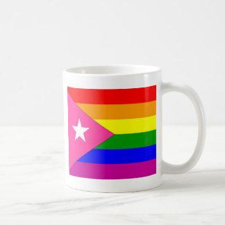 Puertorikanische Gay Pride-Flagge Kaffeetasse