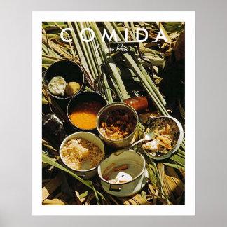 Puertorikanische Nahrung, Geschichte, Puerto Rico Poster