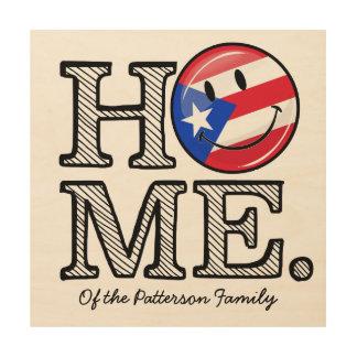 Puertorikanischer Flaggen-Haus-Wärmer Holzwanddeko