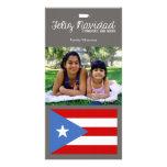 Puertorikanisches Weihnachten Feliz Navidad Foto Karten