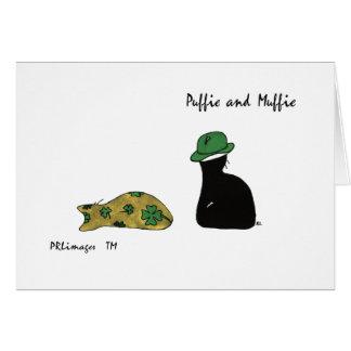 Puffie und Muffie St Patrick Tageskarte Grußkarte
