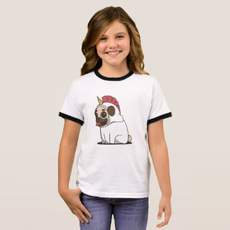 PUG UNICORN RINGER T-Shirt