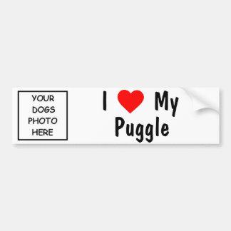 Puggle Autoaufkleber