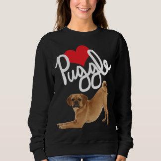Puggle Liebe-Sweatshirt durch Minibrüder Sweatshirt