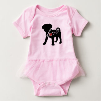 Puggle (Mops/Beagle) Liebe Baby Strampler