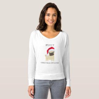 Pugly Weihnachtsstrickjacke-T - Shirt