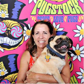 Pugstock 2015 - Chef - Mops Freistehende Fotoskulptur