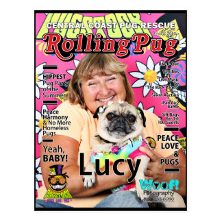 Pugstock 2015 - Lucy - Mops Postkarte