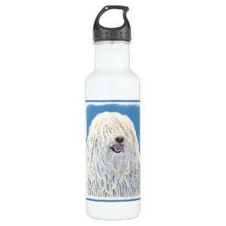 Puli Malerei - niedliche ursprüngliche Hundekunst Trinkflasche