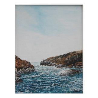 Pulleen Bucht, Irland: Öl, Foto-Druck Fotodruck