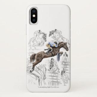 Pullover-Pferdezaun-Montage iPhone X Hülle