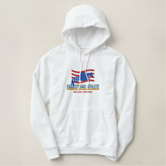 Pullover-Reiterathleten-mit Kapuze Sweatshirt