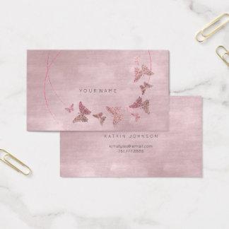 Pulver erröten Samt-Ballett-Rosa-Schmetterling Vip Visitenkarte