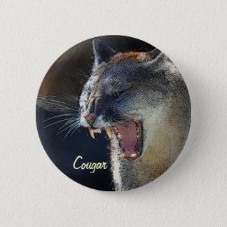 Puma-Berglöwe-große Katzen-Kunst Runder Button 5,1 Cm