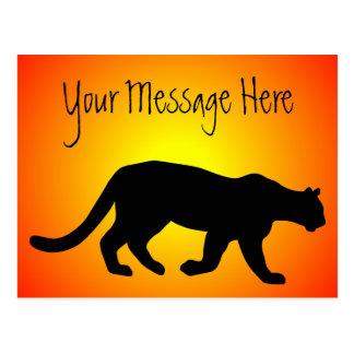 Puma-GebirgslöweCougar Sunfire personalisiert Postkarte