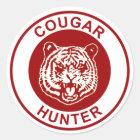 Puma-Jäger Runder Aufkleber