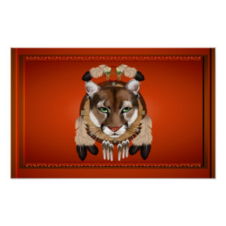 Puma-Löwe-Plakat Poster