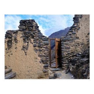 Pumatallis Tempel-Tür zur Inka-Spur, Peru Postkarten
