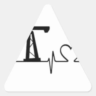 Pumpen-Jack-Herzschlag Dreieckiger Aufkleber